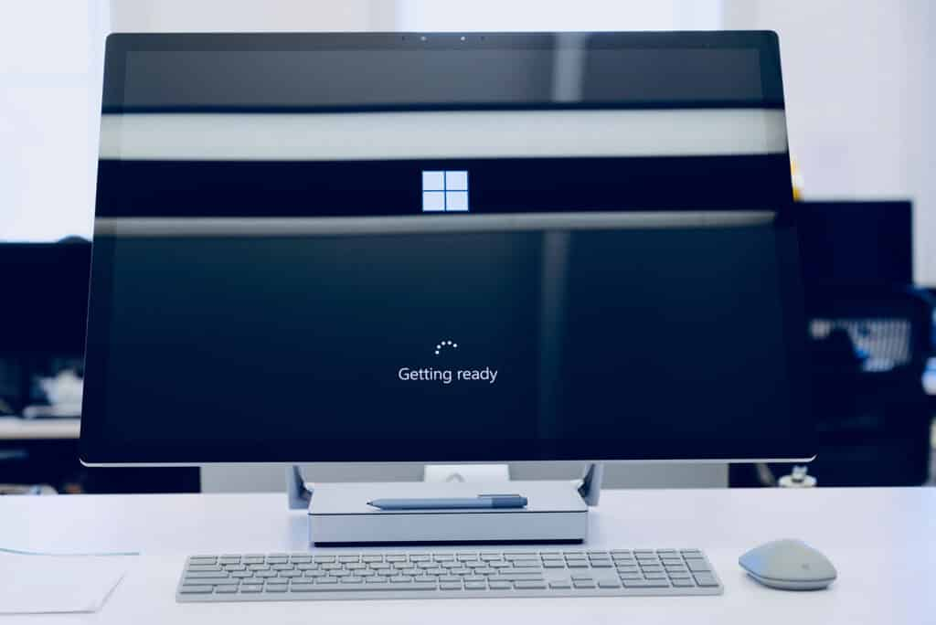 Office 365 loading up on an business computer
